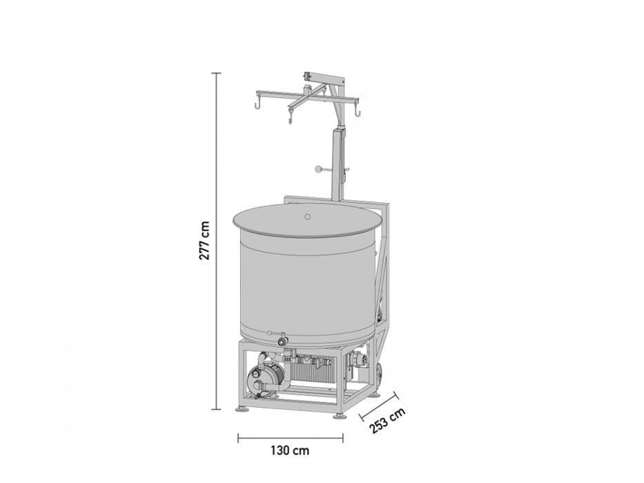 braumeister 500 litru velikost