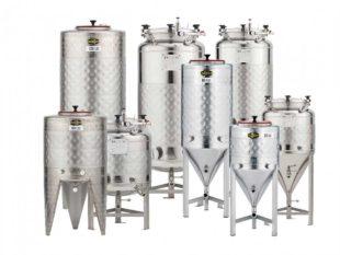 Fermentační nádrže kompletně vybavené