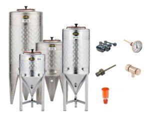 Nerezové fermentační tanky - netlakové | včetně příslušenství
