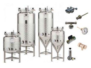 Nerezové fermentační tanky - tlakové 1.2 bar | včetně příslušenství