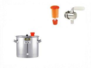 Univerzální fermentační keg 15 litrů - set