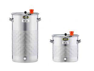 Nerezové fermentační sudy - netlakové - chlazené