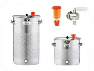 Nerezové fermentační sudy - netlakové, chlazené | včetně příslušenství