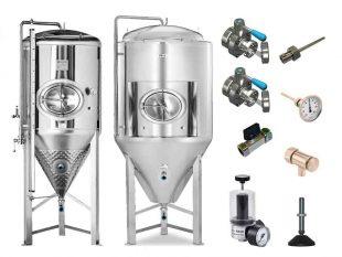 Nerezové fermentační tanky – tlakové profesionální 3.0 bar | včetně příslušenství